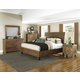 Magnussen Furniture River Road Island Bedroom Set with Casters in Distressed Natural