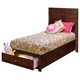New Classic Kensington Youth Twin Storage Bed in Burnished Cherry 05-060-T