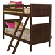 New Classic Kensington Youth Twin Bunk Bed in Burnished Cherry 05-060-TB