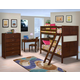 New Classic Kensington 4-pc Bunk Bedroom Set in Burnished Cherry