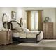 Hooker Furniture Corsica Upholstered Shelter Bedroom Set in Espresso