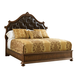 Stanley Furniture Villa Fiora King Upholstered Bed in Toasted Pecan 391-13-46