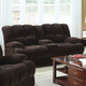 Acme Ahearn Loveseat with Motion and Console in Chocolate 50476