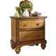 Hillsdale Hamptons 2-Drawer Nightstand in Weathered Pine 1553-771