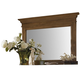 Hillsdale Hamptons Landscape Mirror in Weathered Pine 1553-721
