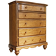 Hillsdale Hamptons 5-Drawer Chest in Weathered Pine 1553-785