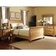 Hillsdale Hamptons Sleigh Bedroom Set in Weathered Pine