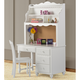 Hillsdale Lauren Computer Desk with Hutch in Crisp White