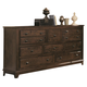Coaster Laughton Casual Drawer Dresser in Cocoa Brown 203263