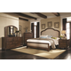 Coaster Laughton Casual Upholstered Bedroom Set in Cocoa Brown