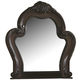 Coaster Abigail Mirror w/ Curved Frame in Cherry 204454