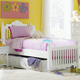 Hillsdale Lauren Twin Poster Trundle Bed in Crisp White