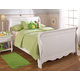 Hillsdale Lauren Twin Sleigh Bed in Crisp White