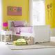 Hillsdale Lauren Sleigh Bedroom Set in Crisp White