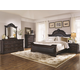 Coaster Cambridge Upholstered Bedroom Set in Dark Cherry
