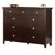 Hillsdale Metro Drawer Dresser in Rich Espresso 1154-717