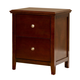 Hillsdale Metro Two Drawer Nightstand in Warm Cherry 1155-771
