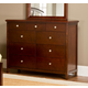 Hillsdale Metro Drawer Dresser in Warm Cherry 1155-717