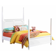Standard Furniture Watercolor Youth Twin Poster Bed in Snow White