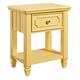Standard Furniture Watercolor Youth Nightstand in Sunshine Yellow 84437