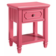 Standard Furniture Watercolor Youth Nightstand in Watermelon Pink 84447