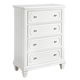 Standard Furniture Watercolor Youth Four Drawer Chest in Snow White 84400-84405