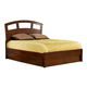Hillsdale Metro Riva Queen Storage Platform Bed in Warm Cherry
