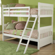Hillsdale Lauren Twin/Twin Bunk Bed in Crisp White