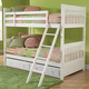 Hillsdale Lauren Twin/Twin Storage Bunk Bed in Crisp White