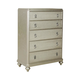 Samuel Lawrence Platinum 5-Drawer Chest 8710-040
