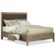Cresent Fine Furniture Corliss Landing Upholstered Queen Bed w/ Storage on One Side