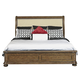 Samuel Lawrence Paxton Queen Upholstered Panel Bed in Medium Oak