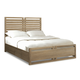 Cresent Fine Furniture Hampton Panel Cal King Bed w/ Storage on One Side in Sand