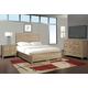 Cresent Fine Furniture Hampton Panel w/ Storage on One Side Bedroom Set in Sand