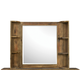 Magnussen Furniture Braxton Landscape Mirror with shelves in Distressed Natural Y2377-48