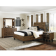 Magnussen Furniture Braxton Island Bedroom Set with Casters in Distressed Natural