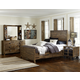 Magnussen Furniture Braxton Panel Bedroom Set with Storage Rails in Distressed Natural