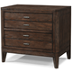 Cresent Fine Furniture Hampton Nightstand with Power in Black Tea 5212