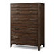 Cresent Fine Furniture Hampton Tall Chest in Black Tea 5208