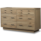 Cresent Fine Furniture Hudson Double Dresser in Sand 5103