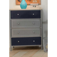 Hillsdale Universal Youth Vertical Chest in Silver and Navy 1177-784