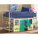 Hillsdale Universal Junior Loft Bed in Silver