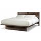 Cresent Fine Furniture Hudson Platform Queen Bed in Black Tea