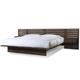 Cresent Fine Furniture Hudson Platform Queen Bed w/ Pier Nightstands in Black Tea