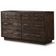 Cresent Fine Furniture Hudson Double Dresser in Black Tea 5203