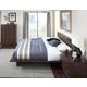 Cresent Fine Furniture Hudson Platform Bedroom Set in Black Tea