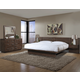 Cresent Fine Furniture Hudson Platform w/ Pier Nightstands Bedroom Set in Black Tea