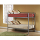 Hillsdale Universal Youth Twin over Twin Bunk Bed in Silver