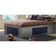 Hillsdale Universal Full Storage Platform Bed in Silver and Navy