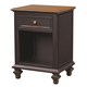 Aspenhome Ravenwood One Drawer Nightstand in Antique Black I65-451